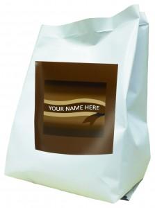 Flat bottom gusset bag